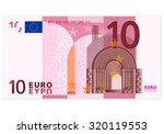 Ten Euro Banknote On A White...