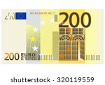 two hundred euro banknote on a... | Shutterstock .eps vector #320119559