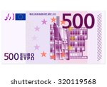 five hundred euro banknote on a ...