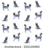cat's and dog's pattern | Shutterstock . vector #320120483