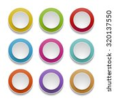 set of round paper buttons | Shutterstock .eps vector #320137550