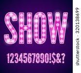 vector violet pink neon lamp... | Shutterstock .eps vector #320138699