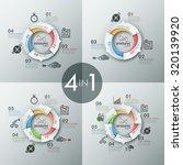 set of 4 modern infographics... | Shutterstock .eps vector #320139920