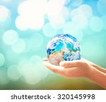 giving charity concept  planet... | Shutterstock . vector #320145998