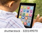 child with digital generated... | Shutterstock . vector #320149070