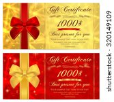 gift certificate  voucher ... | Shutterstock .eps vector #320149109