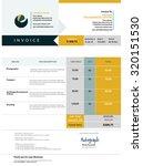 invoice template design | Shutterstock .eps vector #320151530