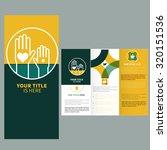 brochure template design  with... | Shutterstock .eps vector #320151536