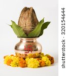 Copper Kalash With Coconut And...