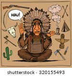 chieftain of indians. and set... | Shutterstock .eps vector #320155493