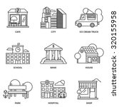 city and buildings vector icons ... | Shutterstock .eps vector #320155958