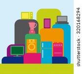 appliances colorful design | Shutterstock .eps vector #320168294