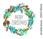 merry christmas and happy new... | Shutterstock .eps vector #320170610