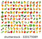 fruit and vegetables color... | Shutterstock .eps vector #320175089