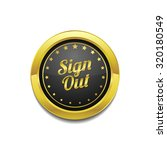 sign out golden vector icon... | Shutterstock .eps vector #320180549