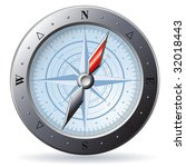 steel detailed compass isolated ... | Shutterstock .eps vector #32018443