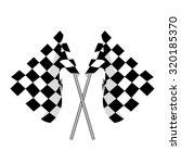 start flag  checkered flag ... | Shutterstock . vector #320185370