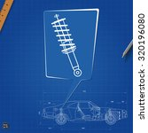 car shock absorber symbol.... | Shutterstock .eps vector #320196080