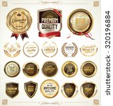 quality golden badges and... | Shutterstock .eps vector #320196884