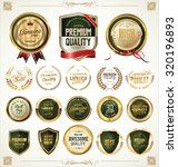 quality golden badges and... | Shutterstock .eps vector #320196893