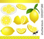lemon digital clipart | Shutterstock .eps vector #320207180