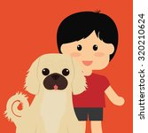 pets love concept about  dog...   Shutterstock .eps vector #320210624