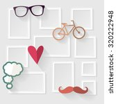decorative template frame... | Shutterstock .eps vector #320222948