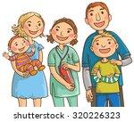 family doctor and family.... | Shutterstock .eps vector #320226323