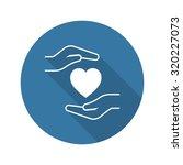 heart disease prevention icon.... | Shutterstock .eps vector #320227073