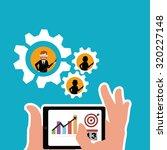 workforce illustration over... | Shutterstock .eps vector #320227148