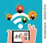 workforce illustration over... | Shutterstock .eps vector #320227214