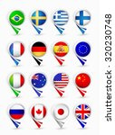 most popular flags map pointers.... | Shutterstock .eps vector #320230748