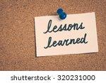 lessons learned   Shutterstock . vector #320231000