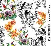 watercolor hand drawn seamless... | Shutterstock . vector #320234486