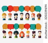 set of social people icons with ... | Shutterstock .eps vector #320239694