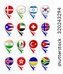 most popular flags map pointers.... | Shutterstock .eps vector #320243294
