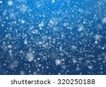Falling Snow On The Blue...