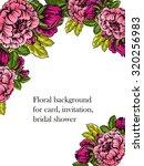 vintage delicate invitation... | Shutterstock .eps vector #320256983