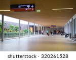 Small photo of PARIS - SEPTEMBER 5TH: The interior of Charle de gaulle airport on September the 5th, 2015 in Paris, France. Charle de gaulle is one of the busiest airports in the world
