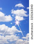 glitter  blue sky | Shutterstock . vector #320263340