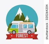 camping  design over white... | Shutterstock .eps vector #320264204