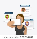 follow me social and business... | Shutterstock .eps vector #320264489