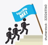 follow me social and business... | Shutterstock .eps vector #320265560