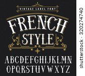 french style vintage label font....