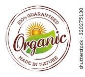 organic natural food label... | Shutterstock .eps vector #320275130