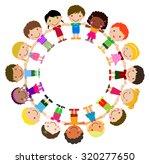 kids standing around | Shutterstock .eps vector #320277650
