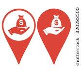 map pointer. money insurance...
