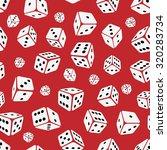 gambling dices seamless pattern ... | Shutterstock .eps vector #320283734
