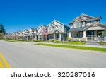 great neighborhood. row of the... | Shutterstock . vector #320287016