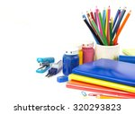 stationery background   group... | Shutterstock . vector #320293823